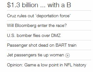 CNN headline B-52 bomber