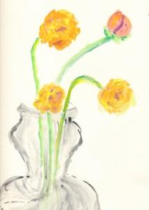 gouache marigolds_c